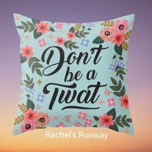🆕2/$30 Funny Swear Word Decorative Cushion Cover